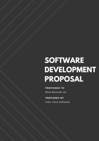 Software Development Proposal