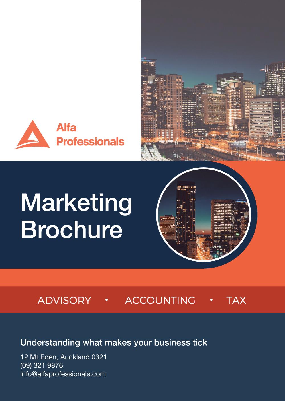 Marketing Brochure Cover